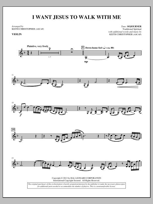 I Want Jesus to Walk with Me - Violin (Choir Instrumental Pak)