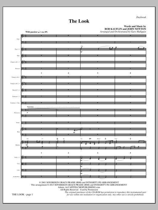 The Look - Full Score Sheet Music