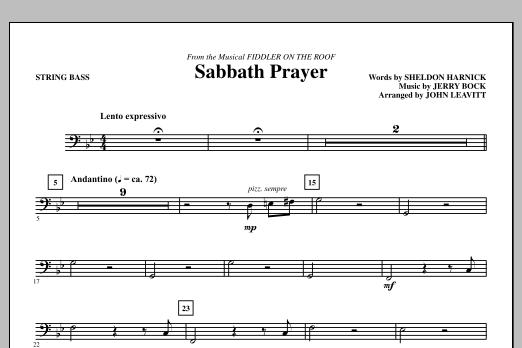 Sabbath Prayer - Bass (Choir Instrumental Pak)