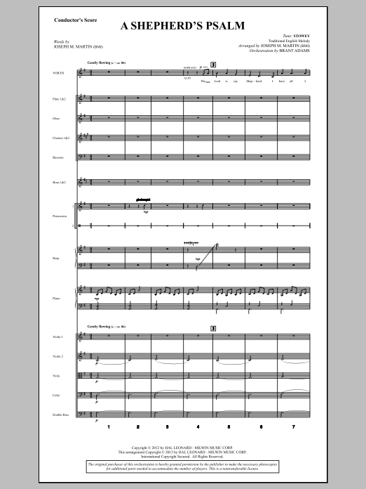A Shepherd's Psalm (COMPLETE) sheet music for orchestra/band by Joseph M. Martin. Score Image Preview.