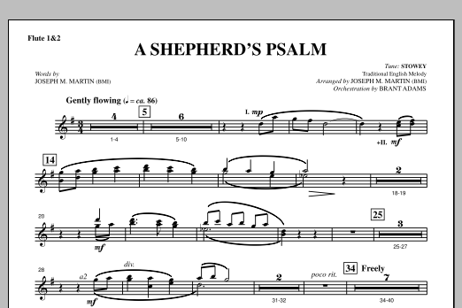 A Shepherd's Psalm - Flute 1 & 2 (Choir Instrumental Pak)