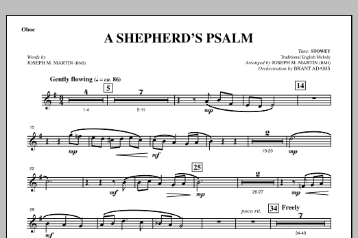 A Shepherd's Psalm - Oboe (Choir Instrumental Pak)