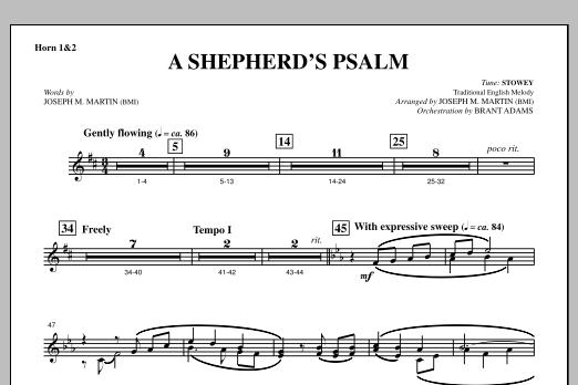 A Shepherd's Psalm - F Horn 1,2 (Choir Instrumental Pak)