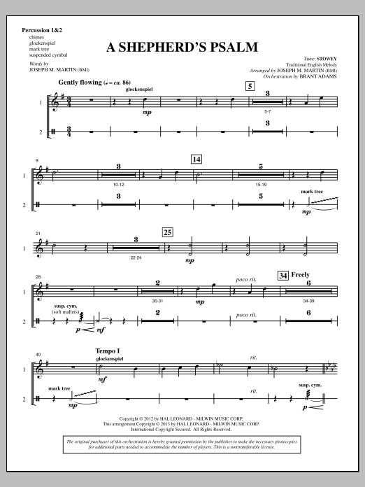 A Shepherd's Psalm - Percussion 1 & 2 (Choir Instrumental Pak)