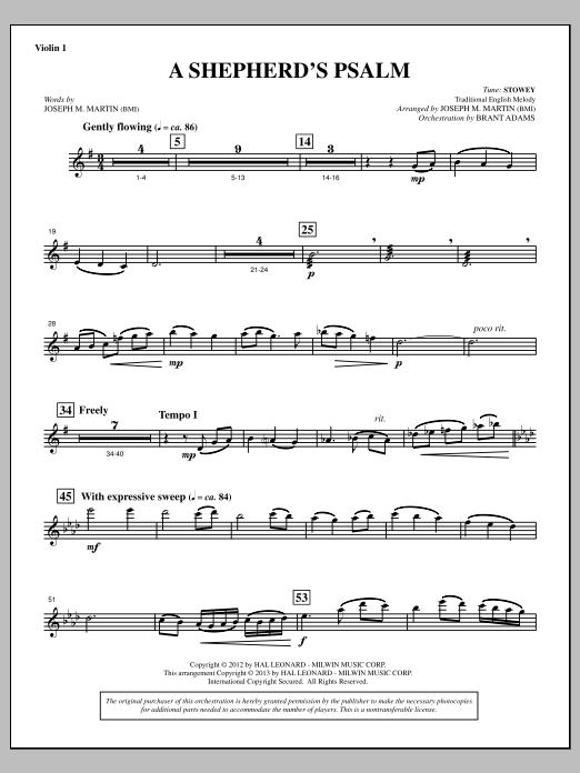 A Shepherd's Psalm - Violin 1 (Choir Instrumental Pak)