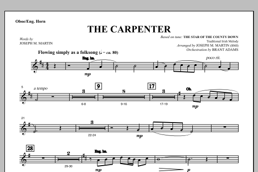 The Carpenter (from Canticle Of The Cross) - Oboe/English Horn (Choir Instrumental Pak)