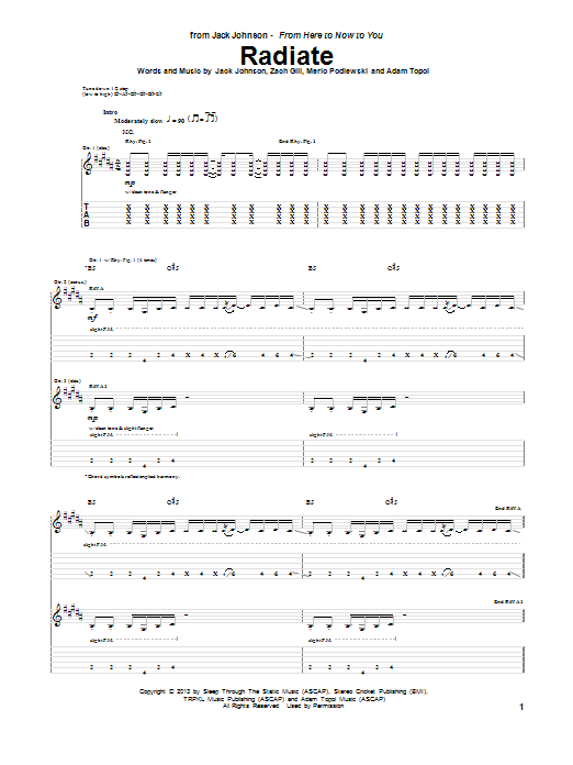 Radiate Sheet Music