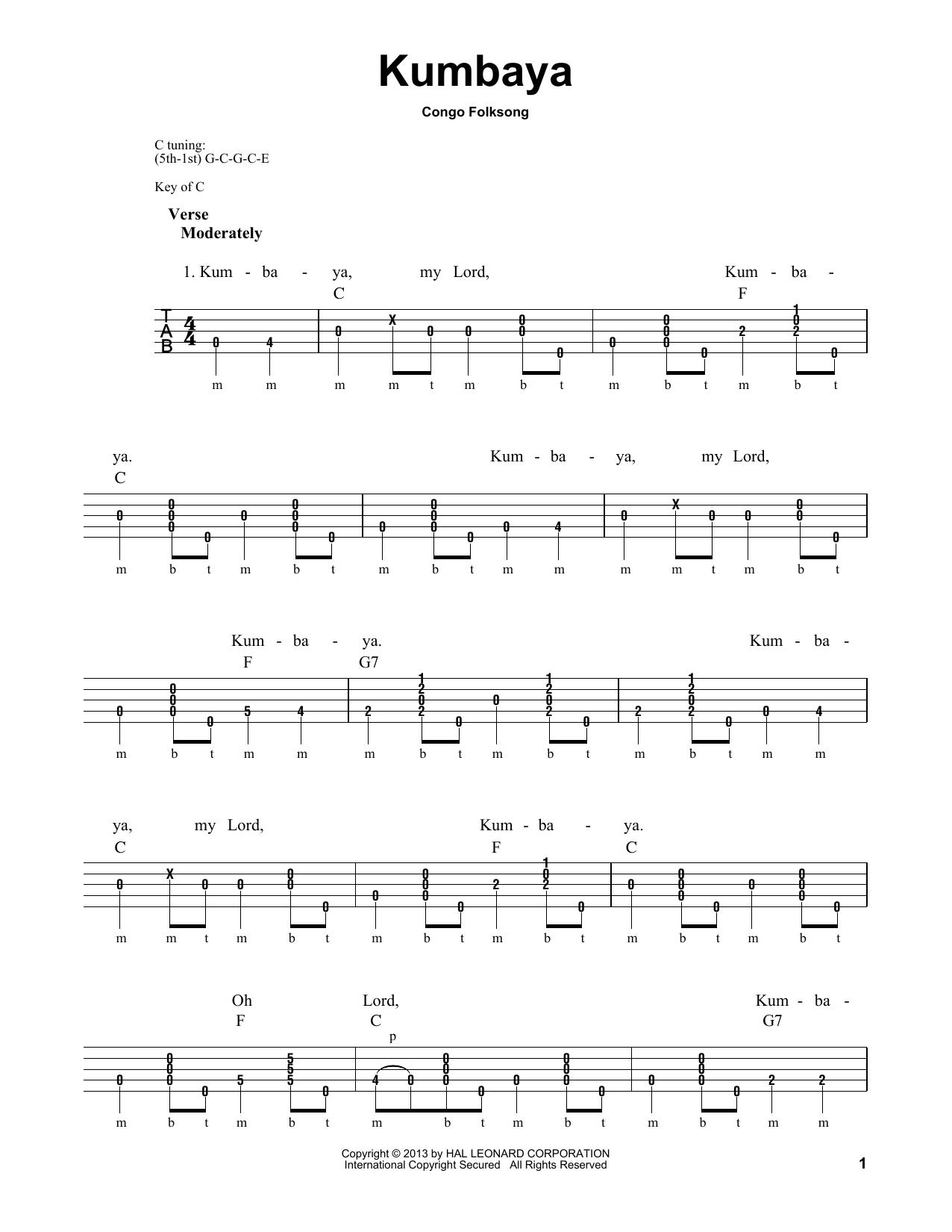Kumbaya (Banjo Tab)