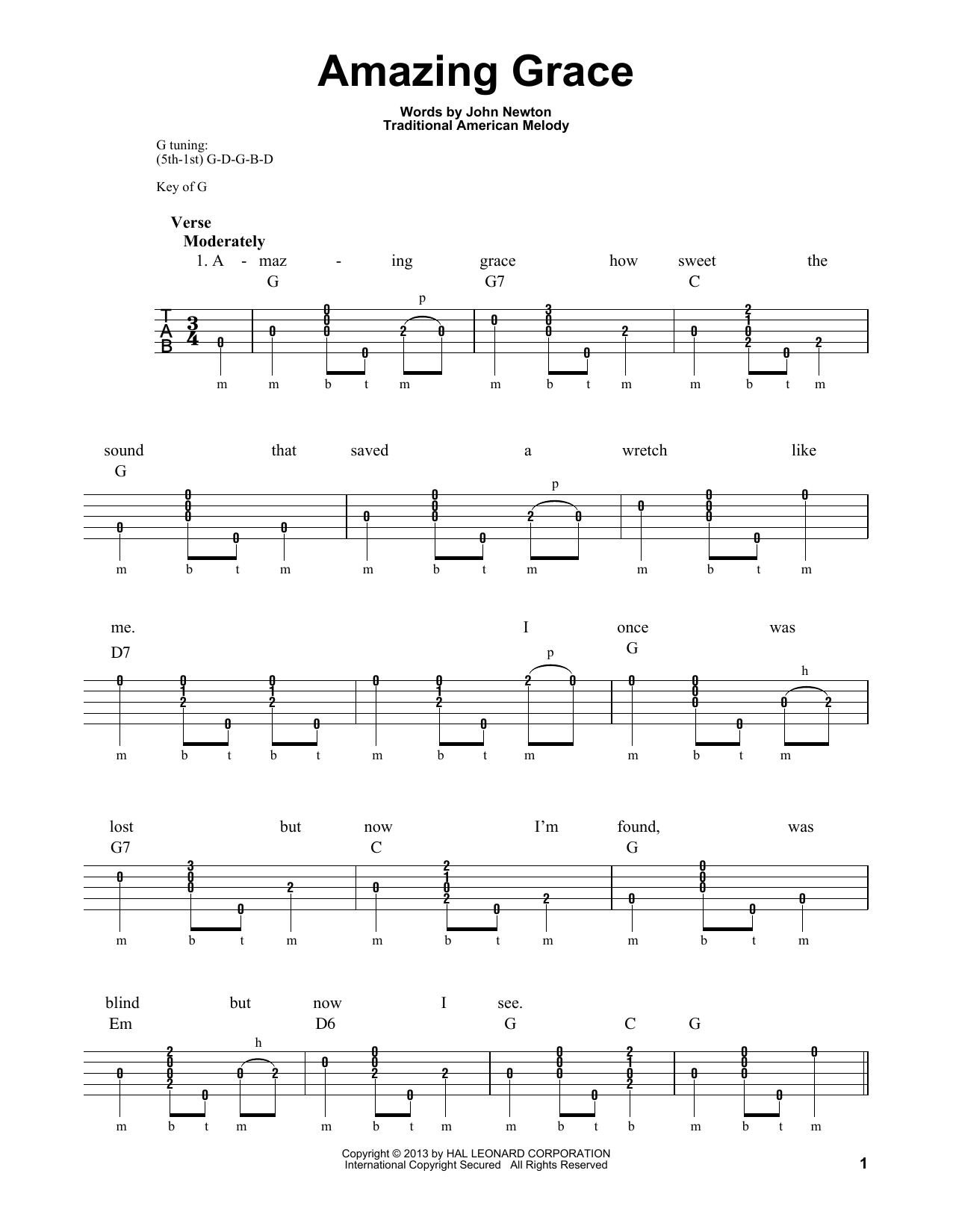 amazing grace piano chords pdf