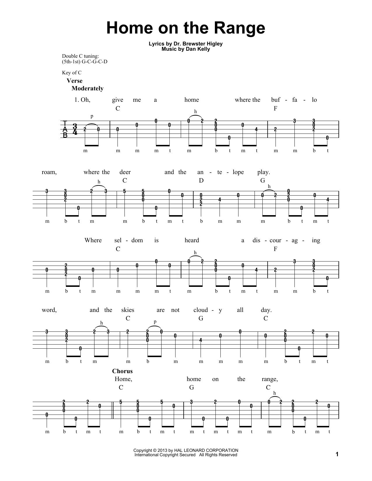 Home On The Range (Banjo Tab)