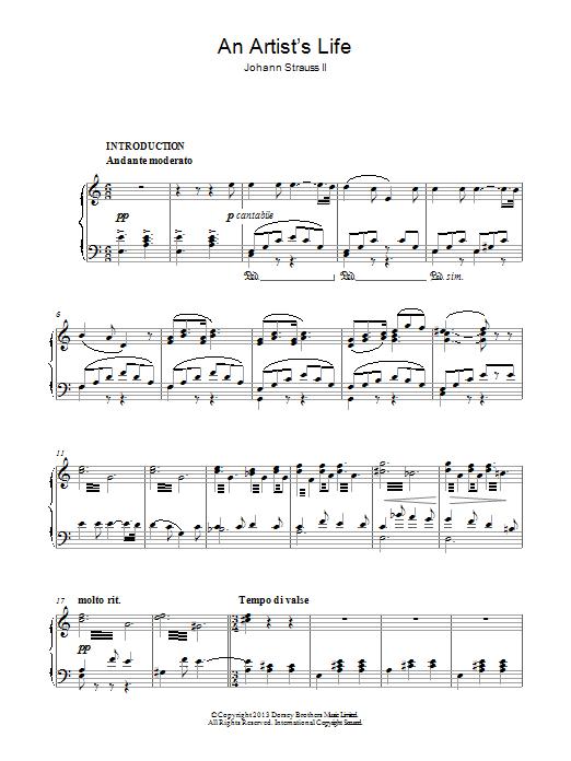 Artist's Life (Piano Solo)