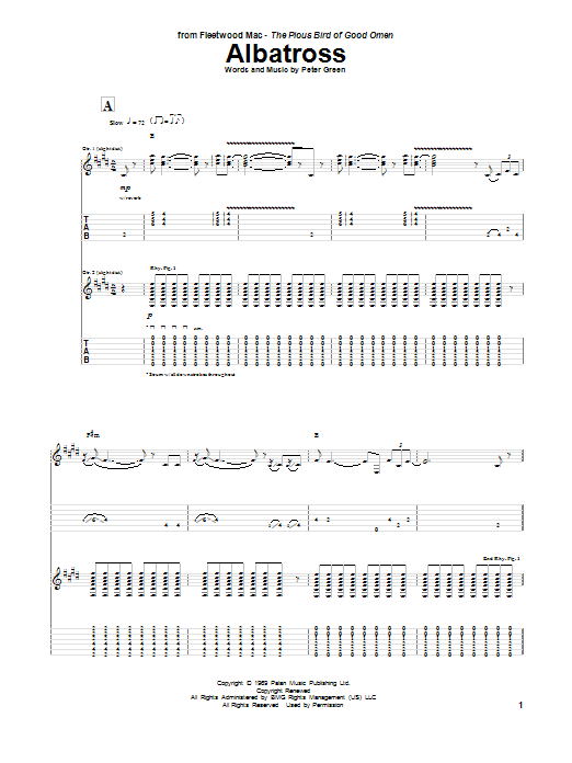 Albatross Sheet Music