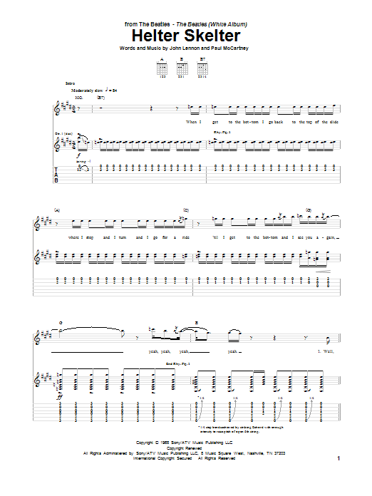 Helter Skelter Sheet Music
