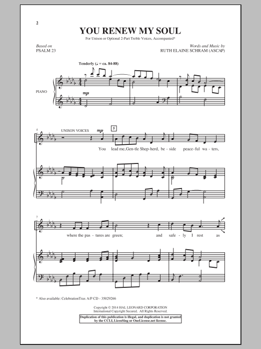 You Renew My Soul Sheet Music