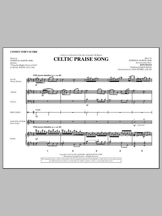 The Celtic Choir - Score (Choir Instrumental Pak)