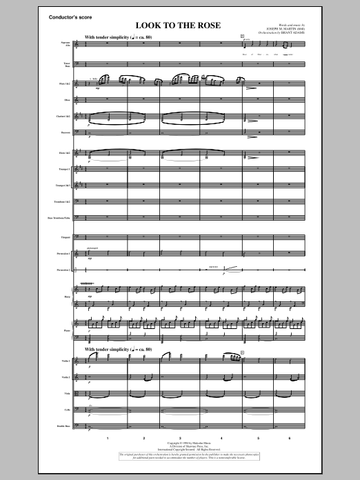 Look to the Rose (COMPLETE) sheet music for orchestra/band by Joseph M. Martin. Score Image Preview.
