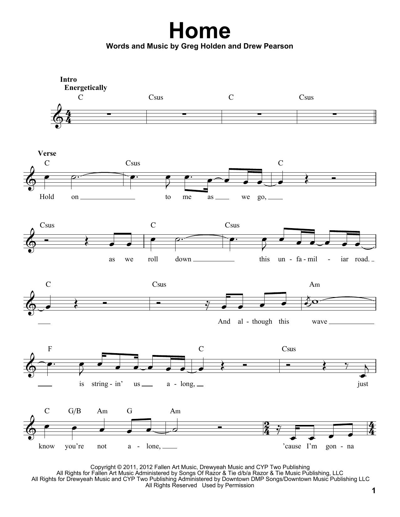 Home Sheet Music