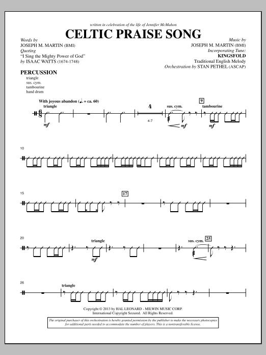 The Celtic Choir - Percussion (Choir Instrumental Pak)