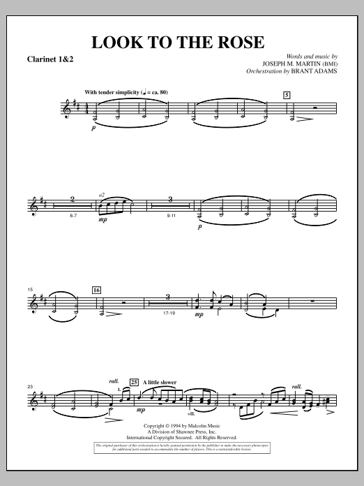 Look to the Rose - Bb Clarinet 1,2 (Choir Instrumental Pak)