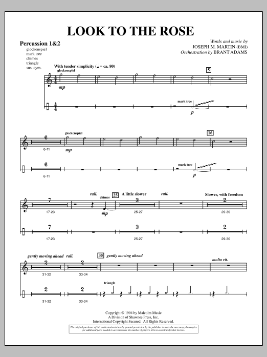 Look to the Rose - Percussion 1 & 2 (Choir Instrumental Pak)