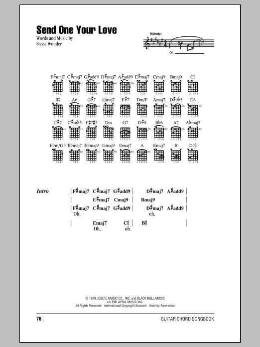 Send One Your Love by Stevie Wonder - Guitar Chords/Lyrics - Guitar ...