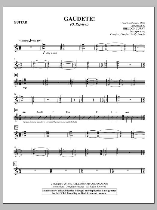 Gaudete! (O, Rejoice!) - Guitar Sheet Music