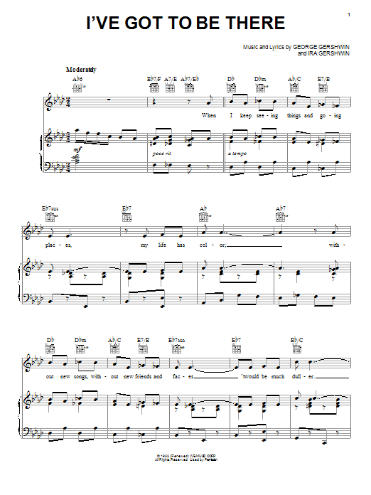 I've Got To Be There Sheet Music