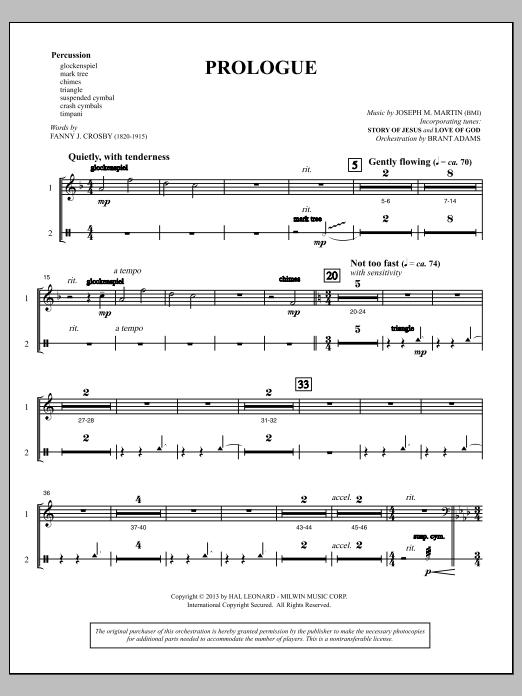 Testimony of Life - Percussion 1 & 2 (Choir Instrumental Pak)