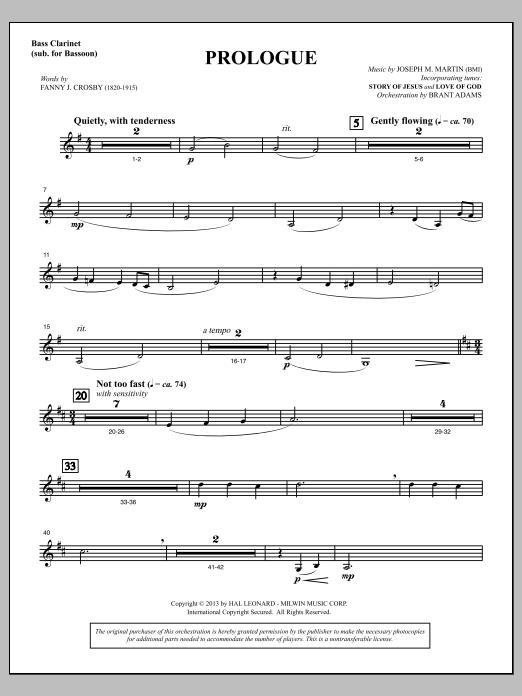 Testimony of Life - Bass Clarinet (sub. Bassoon) (Choir Instrumental Pak)