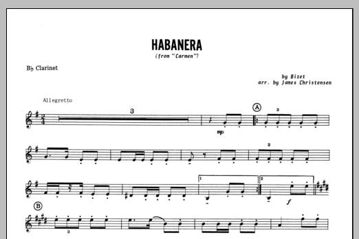 Habanera (from Carmen) - Bb Clarinet Sheet Music