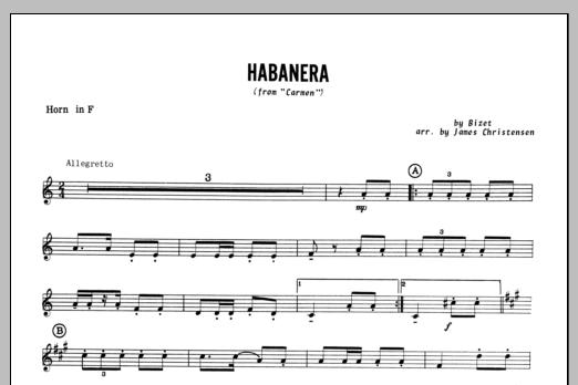 Habanera (from Carmen) - Horn in F Sheet Music