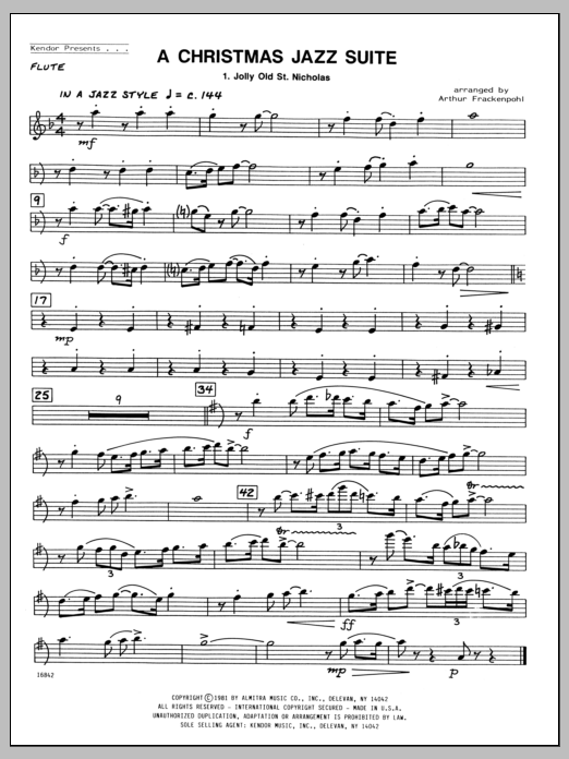 Christmas Jazz Suite, A - Flute Sheet Music