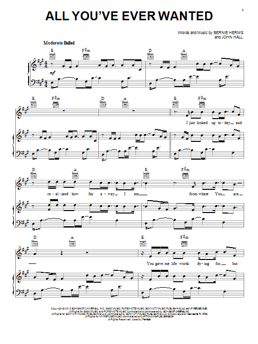 All You've Ever Wanted sheet music by Casting Crowns ...