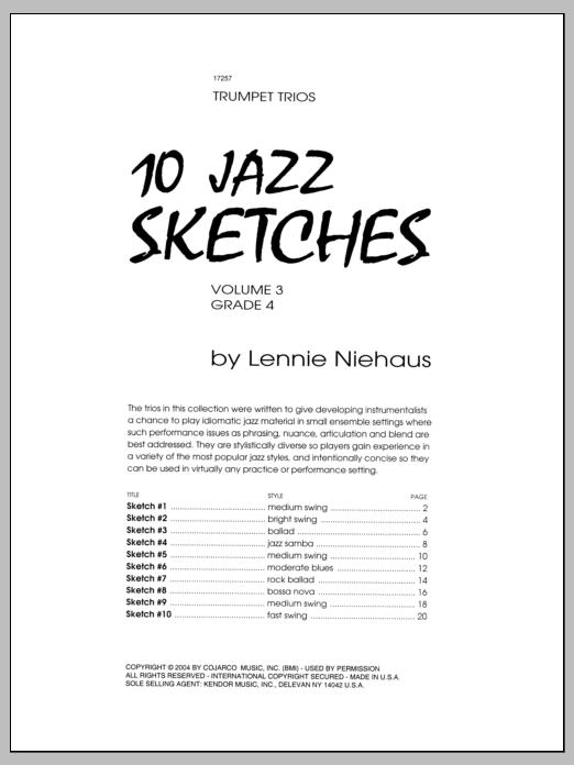 10 Jazz Sketches, Volume 3 Sheet Music