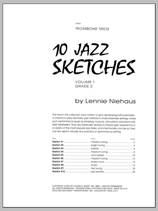 10 Jazz Sketches, Volume 1 Sheet Music