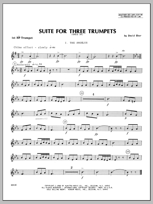 Suite For Three Trumpets (Opus 28) - 1st Bb Trumpet Sheet Music