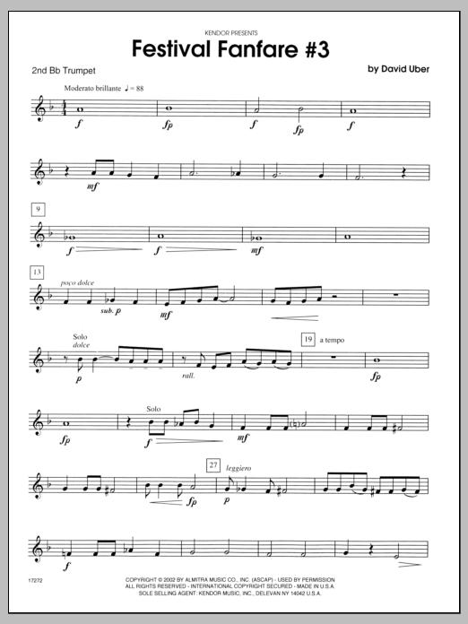 Festival Fanfare #3 - 2nd Bb Trumpet Sheet Music