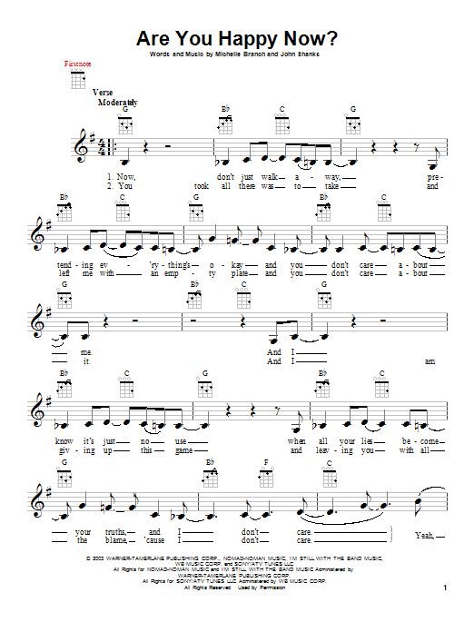 Are You Happy Now? Sheet Music