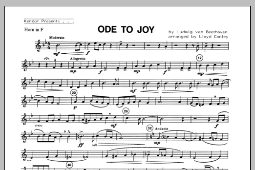 Ode To Joy - Horn in F Sheet Music