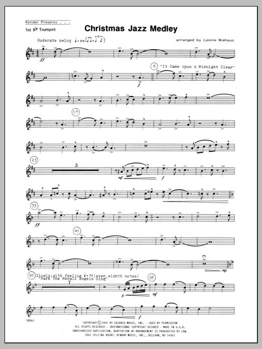 Christmas Jazz Medley - 1st Bb Trumpet Sheet Music