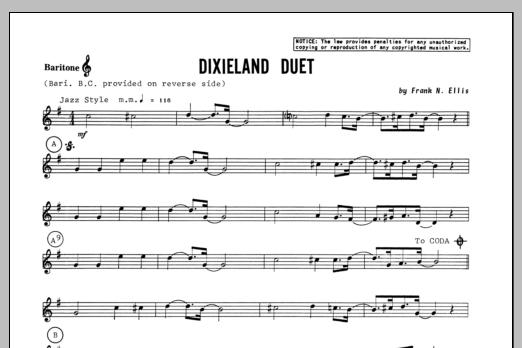 Dixieland Duet - Baritone T.C. Sheet Music