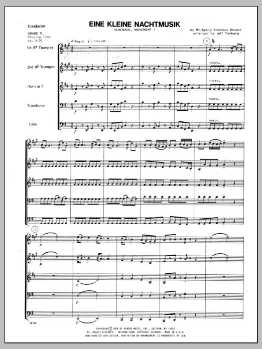 Eine Kleine Nachtmusik/Serenade (Mvt. 1) - Full Score Sheet Music