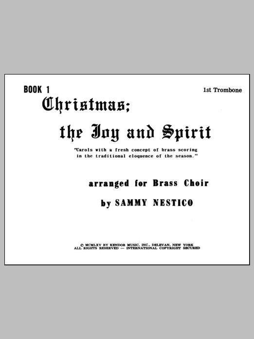 Christmas; The Joy & Spirit - Book 1/1st Trombone Sheet Music