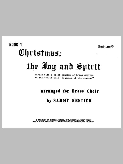 Christmas; The Joy & Spirit - Book 1/Baritone BC Sheet Music