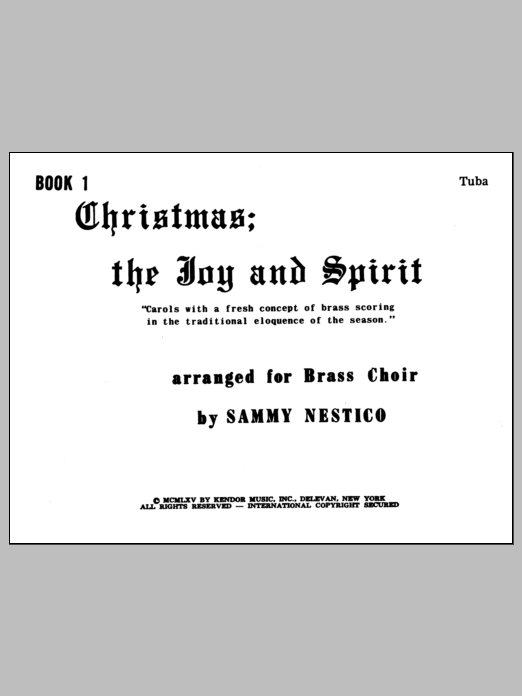 Christmas; The Joy & Spirit- Book 1/Tuba Sheet Music