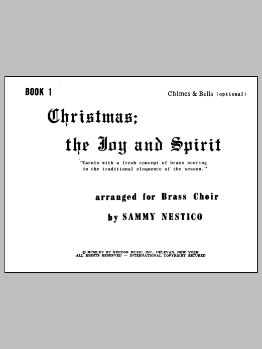 Christmas; The Joy & Spirit- Book 1/Chimes & Bells (opt.) Sheet Music