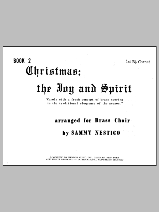 Christmas; The Joy & Spirit - Book 2/1st Cornet Sheet Music