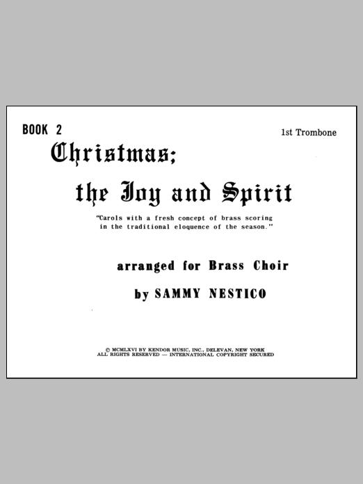 Christmas; The Joy & Spirit - Book 2/1st Trombone Sheet Music