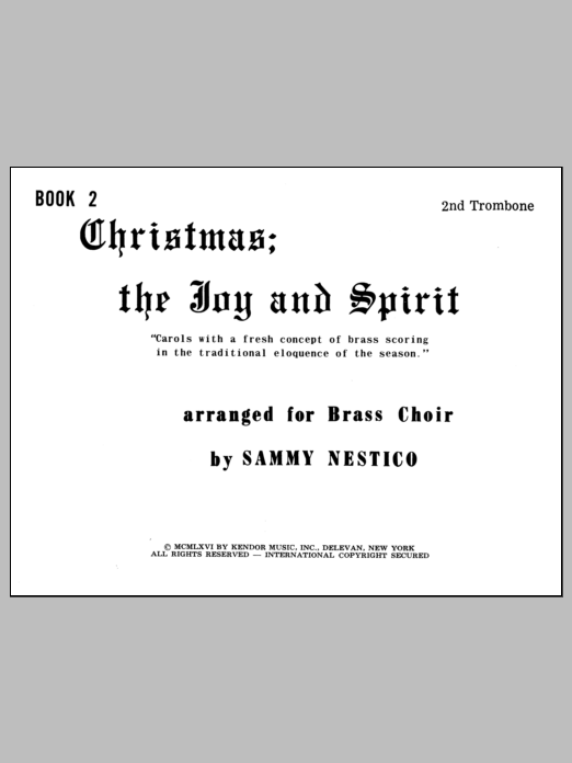 Christmas; The Joy & Spirit - Book 2/2nd Trombone Digitale Noten