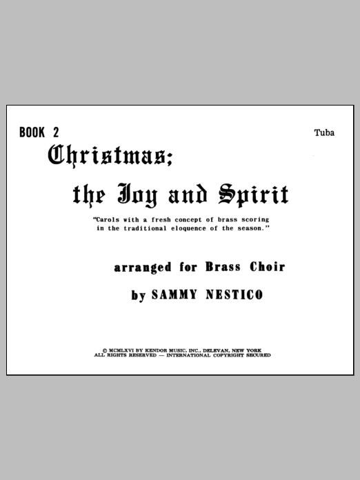 Christmas; The Joy & Spirit- Book 2/Tuba Sheet Music